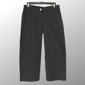 j.jill black cropped pants size 4